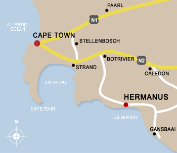 Map of Overberg